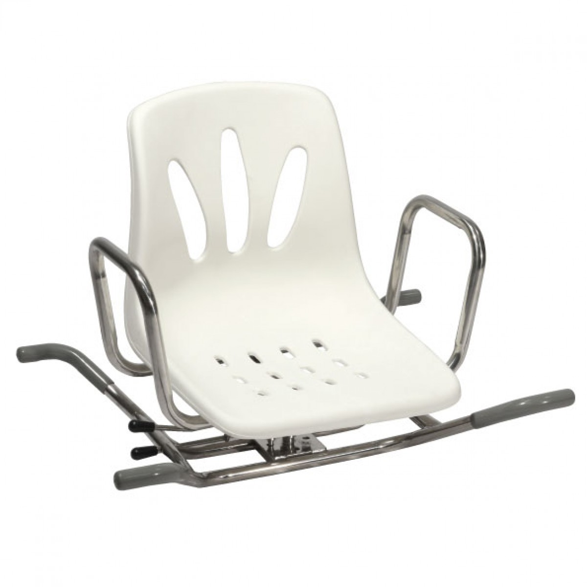 sedia girevole in acciaio inox per vasca da bagno ausili