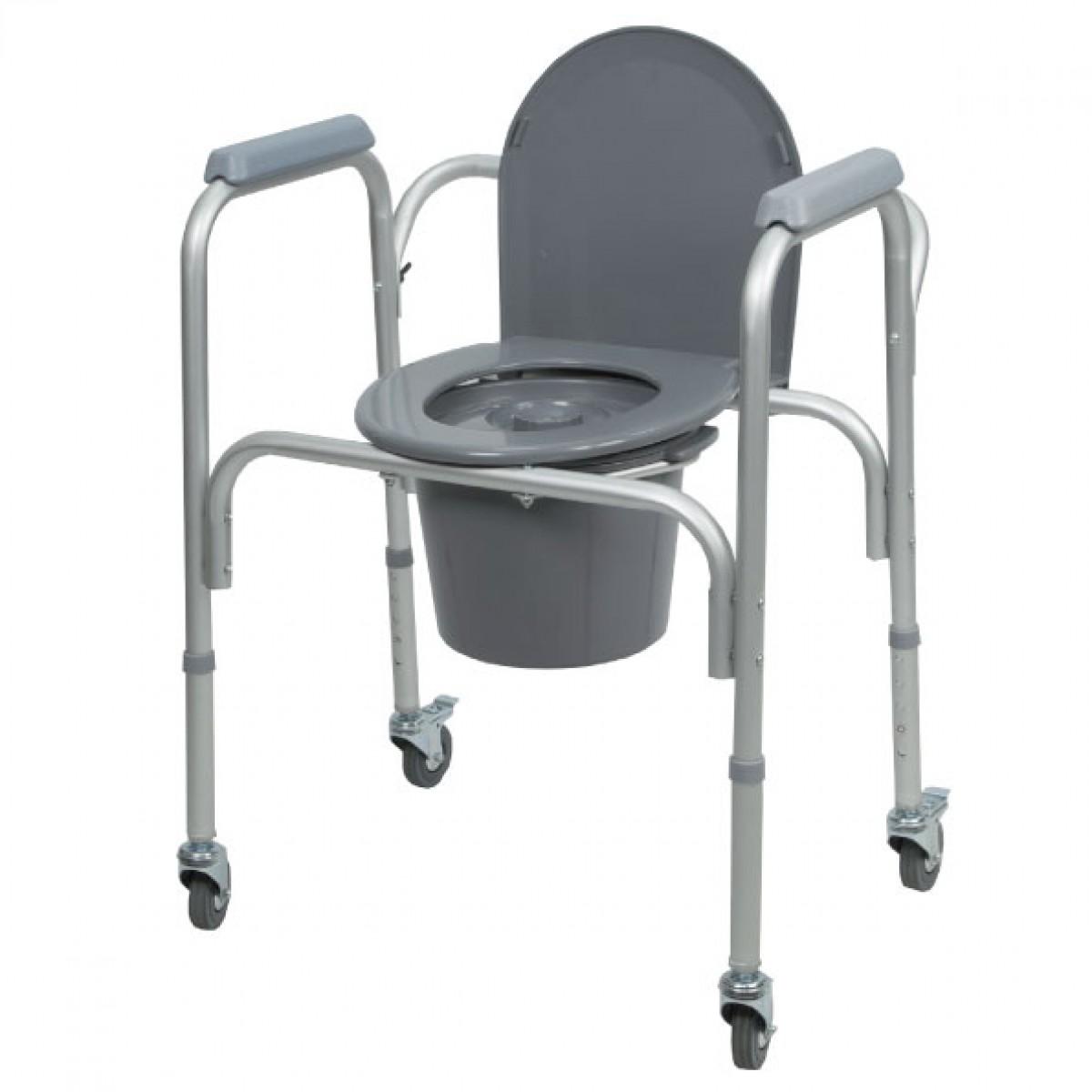Comoda con ruote regolabile in altezza ausili per bagno - Rialzo per bagno ...