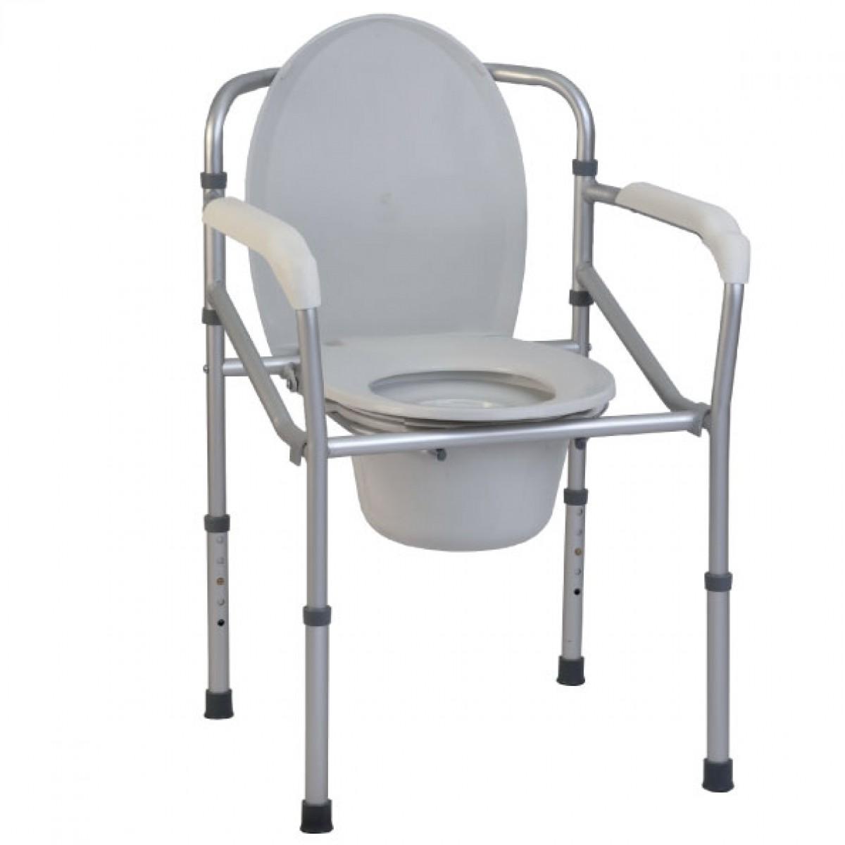 Sedia comoda con wc per disabili termigea ba33 pieghevole ebay - Sedia da bagno per disabili ...